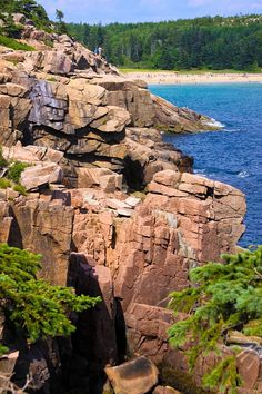 Acadia National Park outside of Bar Harbor, Maine