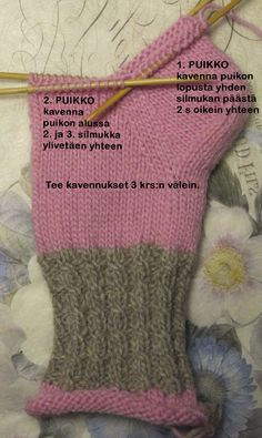 Sukat, helppo nauhakavennuskantapää | Punomo Crochet Socks, Knitting Socks, Free Knitting, Crochet Stitches, Knitting Patterns, Crochet Patterns, Cheap Yarn, Vintage Knitting, Knitting Projects