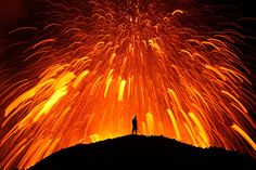 He explains, ''It's the most amazing thing I've ever experienced in my life. It's hard to describe the feeling you get when you're standing in front of an erupting volcano - all the heat, the noise, the smell and the lightning strikes...