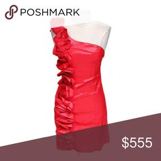 🎉ARDEN B TRENDY ASYMMETRICAL DRESS Arden B TRENDY ASYMMETRICAL DRESS; Size: L; Red/ Pink; Gently worn Arden B Dresses