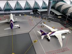 No Point Airport - Diorama Airport BKK (Bangkok) series 'look-a-like'. Terminal - Concourse C Bangkok, Nerf, Planes, Minecraft, Fighter Jets, Aviation, Guns, Models, Logo