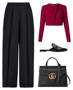 """Untitled #4034"" by michelanna ❤ liked on Polyvore featuring Andrea Marques, Iris & Ink and Gucci"
