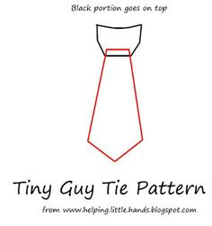 Pieces by Polly: Tiny Guy Tie Applique Template