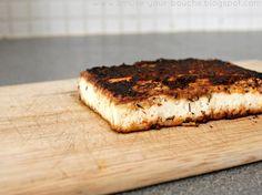 Crispy blackened tofu - trust me, it tastes better then it looks.