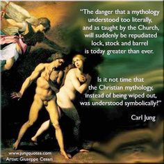 """No science will ever replace myth, and a myth cannot be made out of any science. For it is not that """"God"""" is a myth, but that myth is the revelation of a divine life in man. It is not we who invent myth, rather it speaks to us as a Word of God. Jungian Psychology, Psychology Quotes, Jungian Archetypes, C G Jung, Carl Jung Quotes, Gestalt Therapy, Alexandre Le Grand, Law Of Attraction Love, Genius Quotes"""