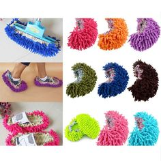 Dust Mop Slipper Lazy House Floor Polishing Easy Foot Cleaning Sock Shoe Cover #Unbranded
