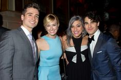 Darren Criss with Matt Doyle, Beth Behrs and Mia Swier at the #TonyAwards after party