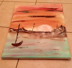 Fishing boat painting