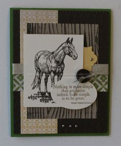 Stampin Up Handmade Card HorseHorse Frontier by Rubberredneck, $5.95