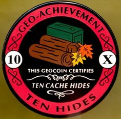 Did not know these existed.  Just need 8 more and it's ours!  Geocaching Trackable Geocoin.