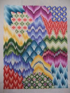 Saw a similar piece partially done... and loved it. I think I've found my way back to the source - Needlepoint Now Magazine - should have known!!
