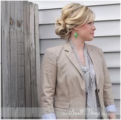 The Small Things Blog: The Double Bun --so easy! I do this all the time and it's so cute!