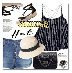 """Top It Off: Summer Hats"" by svijetlana ❤ liked on Polyvore featuring summerhat"