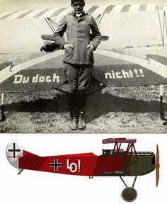 Ernst Udet and his Foker Dr. VII.