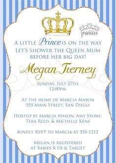 Little prince baby shower invitation printable baby shower little prince gold crown printable baby shower invitation made by a princess filmwisefo