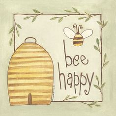 Bee decor and vintage bee hive home decorating. Shop for bee and beehive jewelry, beehive art and home decor and other handmade vintage bee goods for your little hive. Bee Quotes, Buzz Bee, Bee Skep, Arte Country, I Love Bees, Bee Cards, Bee Design, Save The Bees, Bee Happy