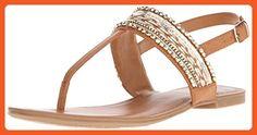 Fergalicious Women's Frazzel Flat Sandal, Tan, 7.5 M US - Sandals for women (*Amazon Partner-Link)