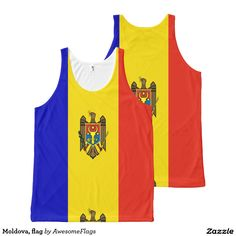 Moldova, flag All-Over print tank top