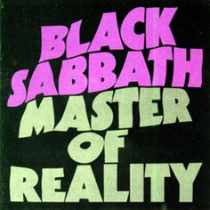 Black Sabbath, 'Master of Reality'