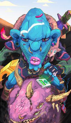Fantastic Colorful Illustrations by Andrés Maquinita | Abduzeedo Design Inspiration