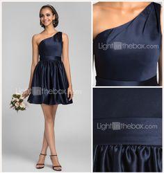 o linie prințesă genunchi-lungime satin rochie de domnisoara de onoare (682812) - EUR € 72.76
