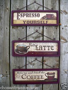 Java Cafe Wall Plaque Set For Kitchen   $99. | Moms House | Pinterest |  Cafe Wall, Java And Cafes