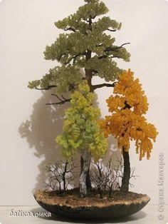 Бонсай топиарий ёлка Бисероплетение Бисерная осень Бисер фото 1