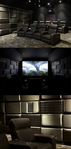 Browse home theater design and living room theater decor inspiration. Discover d… Browse home theater design and living room theater decor inspiration. Discover designs, colors and furniture layouts for your own in-home movie theater. Home Theater Lighting, Home Theater Setup, Best Home Theater, At Home Movie Theater, Home Theater Speakers, Home Theater Projectors, Home Theater Design, Home Theater Seating, Audio Speakers