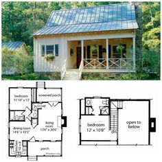 Garden Home House Plans 18 Ideas For 2019 Garden Home House Plans 18 Ideas For 2019 The post Garden Home House Plans 18 Ideas For 2019 appeared first on Baustil. Tiny House Cabin, Cottage House Plans, Tiny House Living, Tiny House Design, Small House Plans, Cottage Homes, Tiny Home Floor Plans, Guest Cottage Plans, Tiny House 2 Bedroom