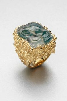 Ehh I like the boldness of this ring, but it IS doing quite a bit here. Yves Saint Laurent Shadow Broken Agate Ring