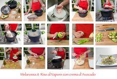 Il riso con avocado per le tue ricette estive!  Scopri il gusto e la leggerezza della cottura al vapore: ecco un'idea per colorare la tua dieta!