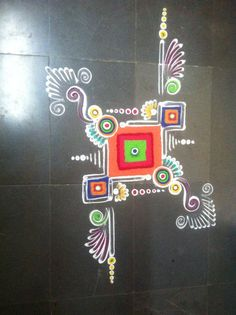 Rangoli Borders, Rangoli Border Designs, Colorful Rangoli Designs, Rangoli Designs Diwali, Diwali Rangoli, Beautiful Rangoli Designs, Kolam Designs, Easy Rangoli Designs Videos, Rangoli Ideas