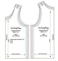 Toddler Tank Top Tutorial with Free Pattern – Zune's Sewing Therapy Top Pattern, Free Pattern, Tank Top Tutorial, Toddler Sewing Patterns, Cut Up Shirts, Diy Tank, T Shirt Diy, Fun To Be One, Couture
