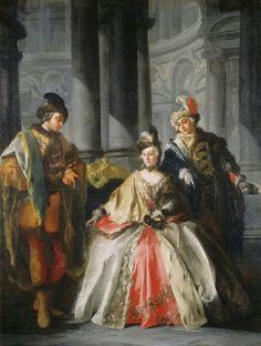 """Masquerade"" by  Louis-Joseph Le Lorrain, c. 1740"