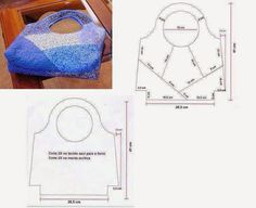 Patchwork Norika - Fotoalbum - Z-obrázkové postupy, motívy Recycle Jeans, Craft Bags, Patchwork Bags, Denim Bag, Bag Organization, Beautiful Bags, Bag Making, Leather Purses, Purses And Bags