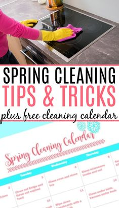 Get started cleaning with these awesome spring cleaning tips and free spring cleaning calendar. Your home will be clean and ready for summer in only minutes a day. Cleaning Dust, Kitchen Cleaning, House Cleaning Tips, Spring Cleaning, Homemade Cleaning Products, Cleaning Recipes, Cleaning Hacks, Cleaning Calendar, Cleaning Checklist