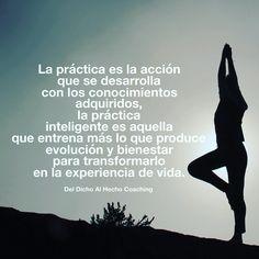 La práctica se transforma en experiencia de vida!  #Coaching #DesarrolloHumano #InteligenciaEmocional #Bienestar