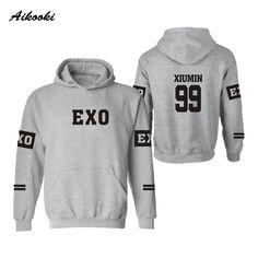 Aikooki EXO Kpop Hooded men/women hoodies sweatshirts  Winter sweatshirt Lay Luhan Kai Tao Suho Kris Chen Xiumin Sehun Clothes #Affiliate
