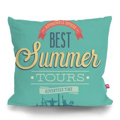 Cushion Cover SUMMER TOURS by Sticky!!!