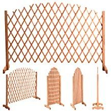 YOUZEE Expanding Portable Fence Wooden Screen Dog Gate Pet Safety Kid Patio Garden Lawn *** You can get more details by clicking on the image. (This is an affiliate link and I receive a commission for the sales) Wood Trellis, Bamboo Fence, Cedar Fence, Fence Doors, Fence Gate, Gabion Fence, Fence Planters, Wire Fence, Front Yard Fence