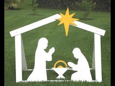 DIY Outdoor Nativity - Building Steps With Templates - YouTube