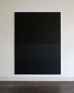 Black painting, artist unknown.