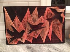 Flying birds string art от Stringything на Etsy