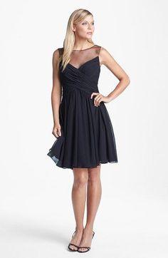 JS Boutique Gathered Illusion Dress