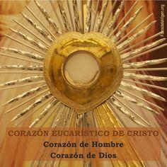 Corazón Eucarístico de Cristo...Corazón de hombre...Corazón de Dios