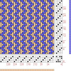 Hand Weaving Draft: Back And Forth Twill, , 4S, 4T MAX FLOAT 3 - Handweaving.net Hand Weaving and Draft Archive