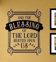 And the blessing of the Lord rested upon us Vinyl Wall Art Decal Sticker * Click image for more details. Buddha Decor, Bless The Lord, Vinyl Wall Art, Buddhism, Blessing, Cool Things To Buy, Decals, Stickers, Amazon