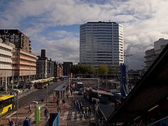 Utrecht stationsplein. Square to the trains and busses.