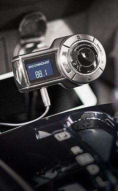 Scosche Fm Transmitter With Charging Port Features A Flexible Neck For Multiple Viewing Angles