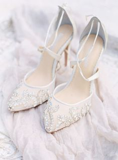 f1e88a845 25 Gorgeous Embellished Wedding Shoes Ideas
